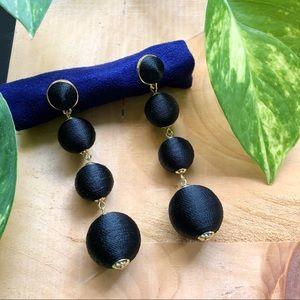 Zara Black Tiered Ball Earrings